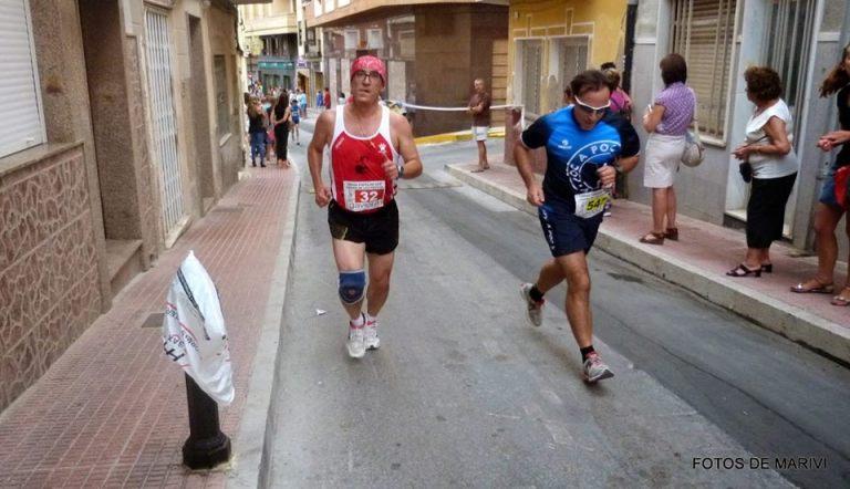 Ángel Granizo durante el desarrollo de la carrera