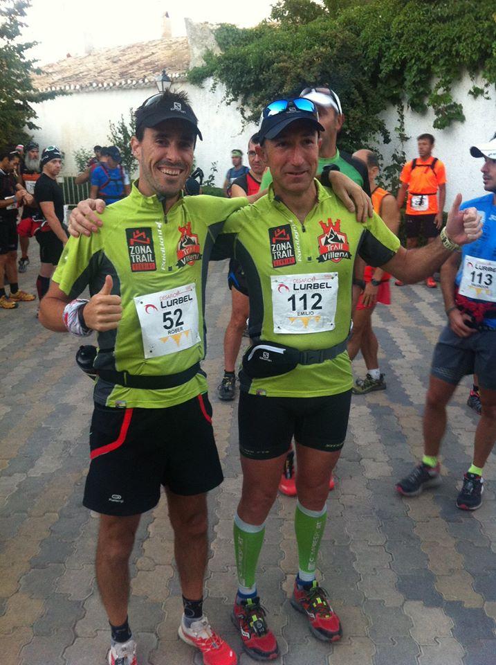 Rober Martínez y Emilio Alcaraz antes de darse la salida