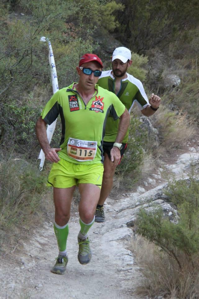 Emilio Alcaraz durante la bajada