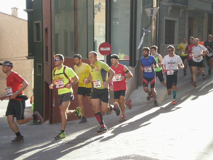José Antonio Azorín en los primeros metros de la carrera