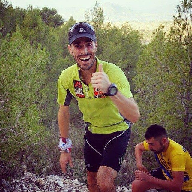 Rober Martínez en una de las subidas de la carrera