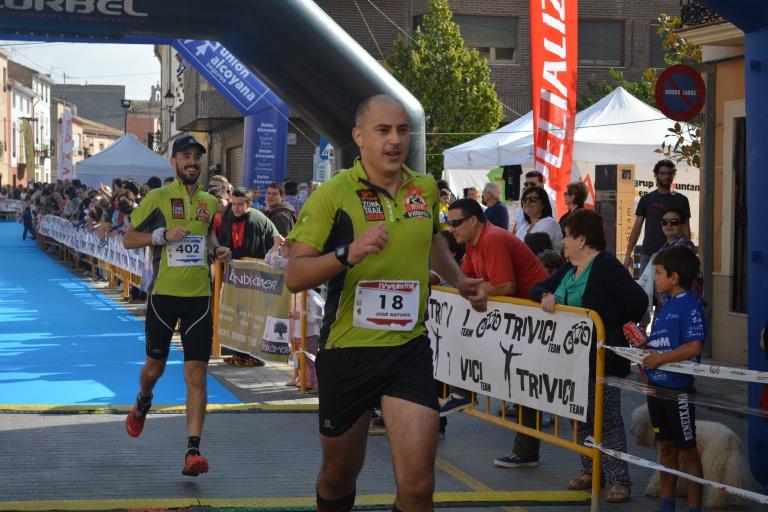 José Antonio Azorín entrando en meta