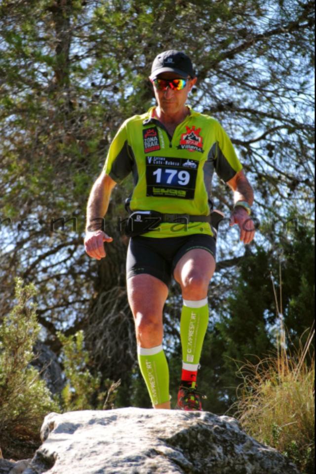 Emilio Alcaraz durante la carrera