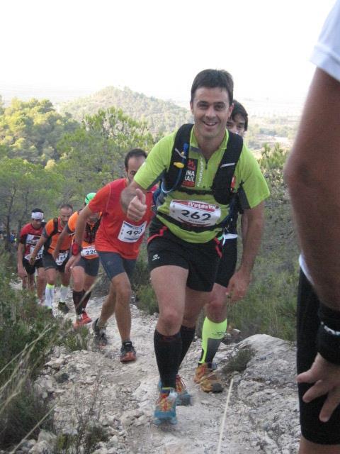 """Ricardo Palero en la  subida del """"alt dels tres pinets"""""""