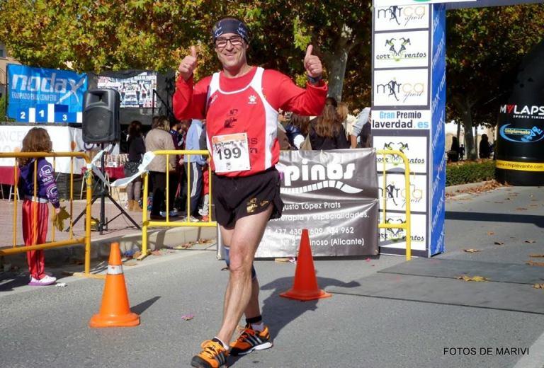 Ángel Granizo tras cruzar la meta