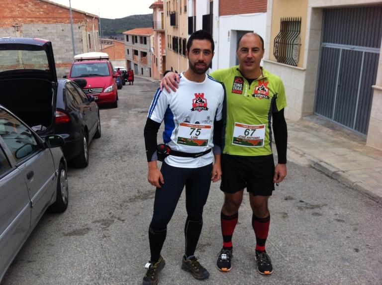 Luis y José Antonio momentos antes de iniciarse la carrera