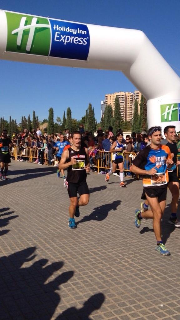 Sebastián Soriano en pleno esfuerzo durante el desarrollo del maratón