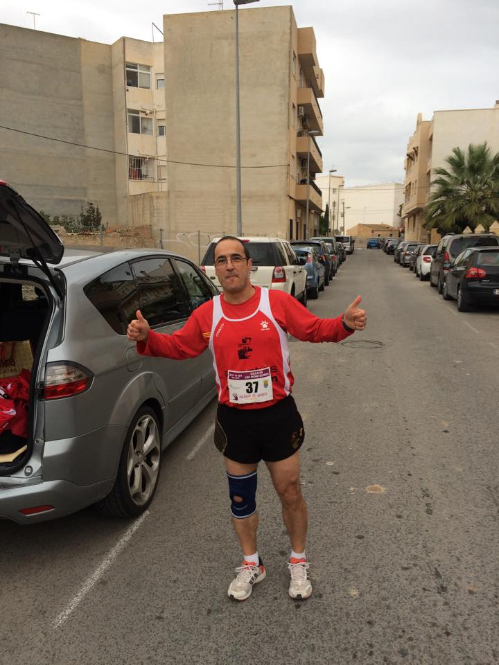 Ángel Granizo preparado para iniciar la carrera