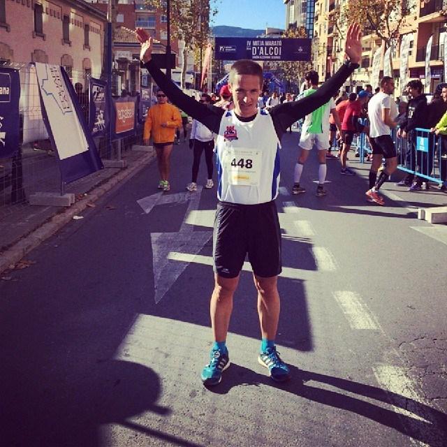 Sebastián Soriano en la media maratón de Alcoy