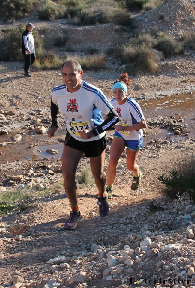 Ángel y María del Mar, que realizaron la carrera juntos durante el tramo de rambla