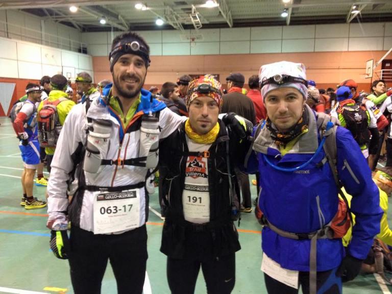 Rober, Ángel Alberto y Tony antes de darse la salida