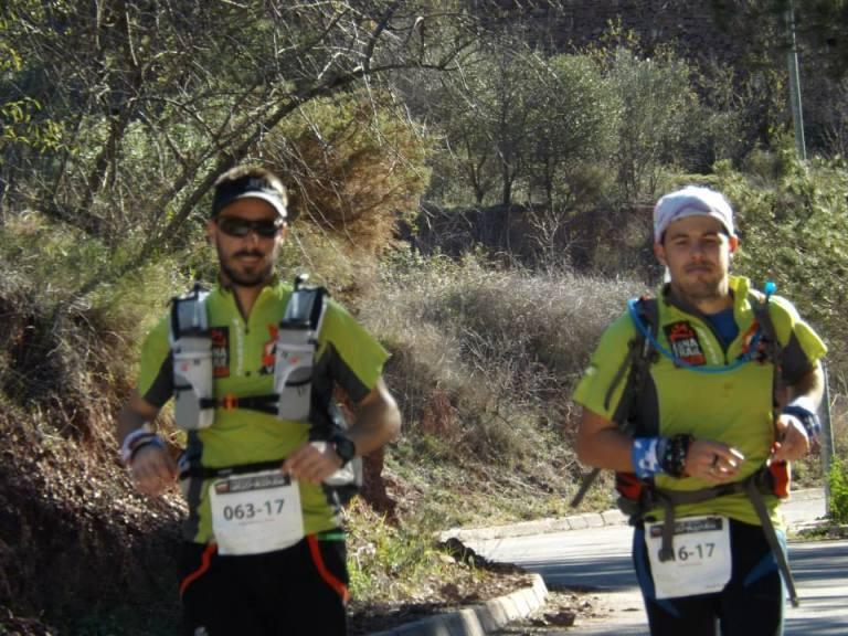 Rober y Tony durante el desarrollo de la carrera