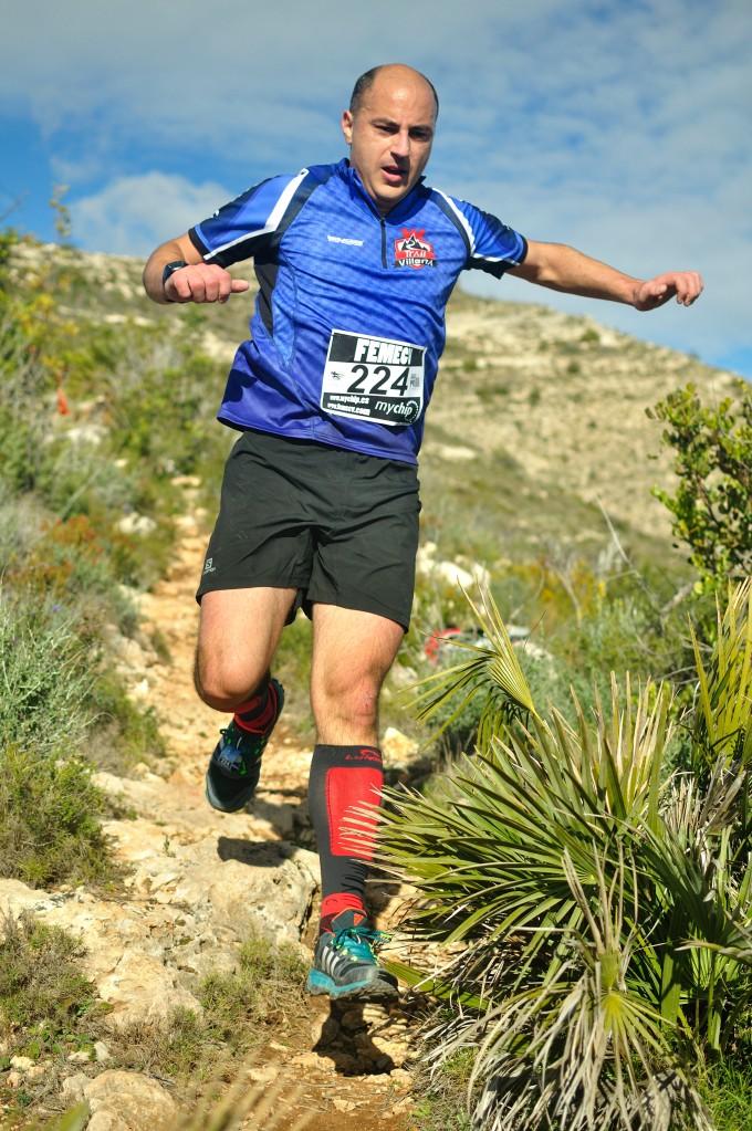 José Antonio Azorín durante el descenso