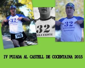Bonita composición realizada por los compañeros de Onsen Runners de Alcoy con Ángel Granizo con su camiseta reivindicativa de lucha contra la ELA