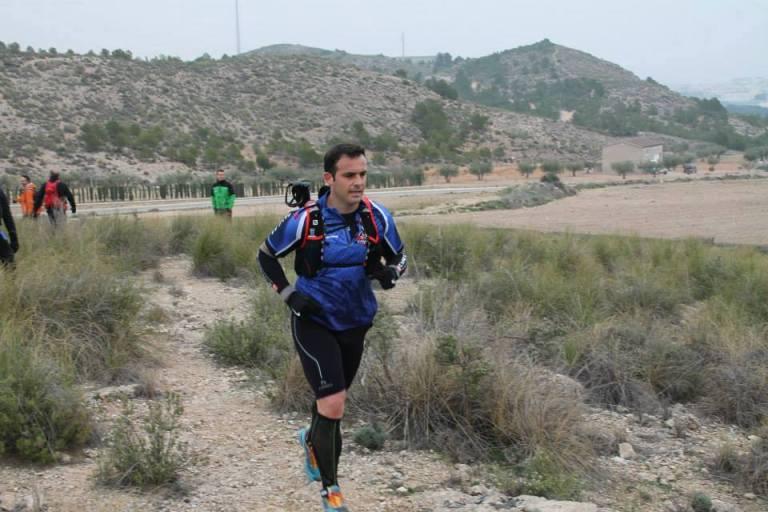 """Juan José Ortuño, durante el desarrollo de la """"Tinto Trail"""""""