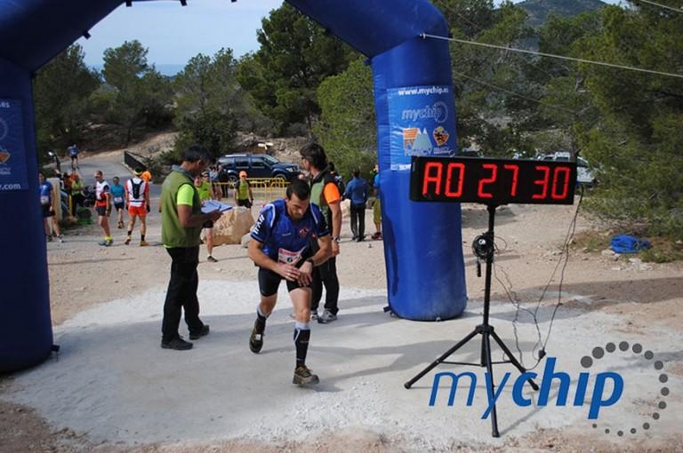 Raúl Domene iniciando la cronoescalada