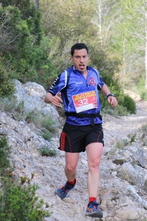 Ángel Alberto Pérez durante la carrera de 26 km