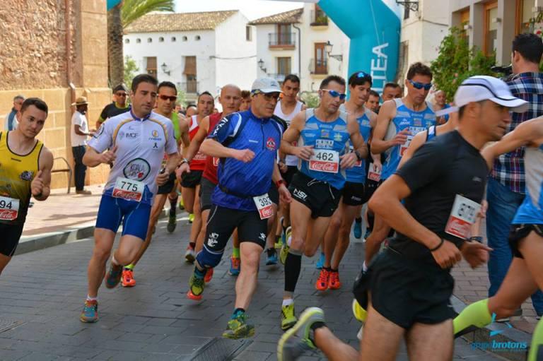 Ángel Granizo, tras darse la salida a la carrera