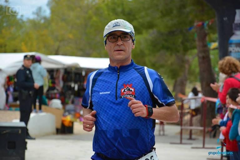 Ángel Granizo, llegando a la línea de meta