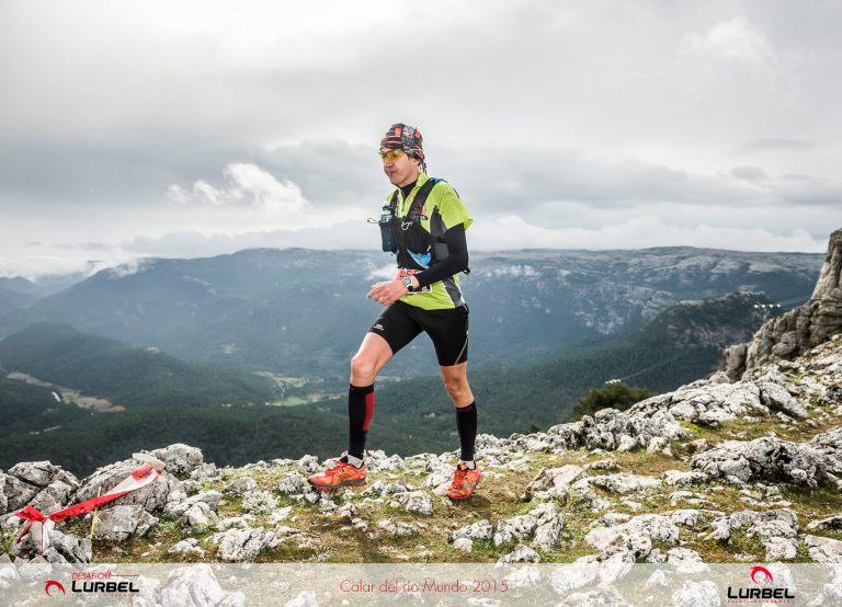 Iván Berbegal, en la cima del alto del Padroncillo
