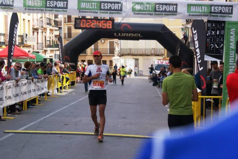 Jorge Máñez entrando en meta