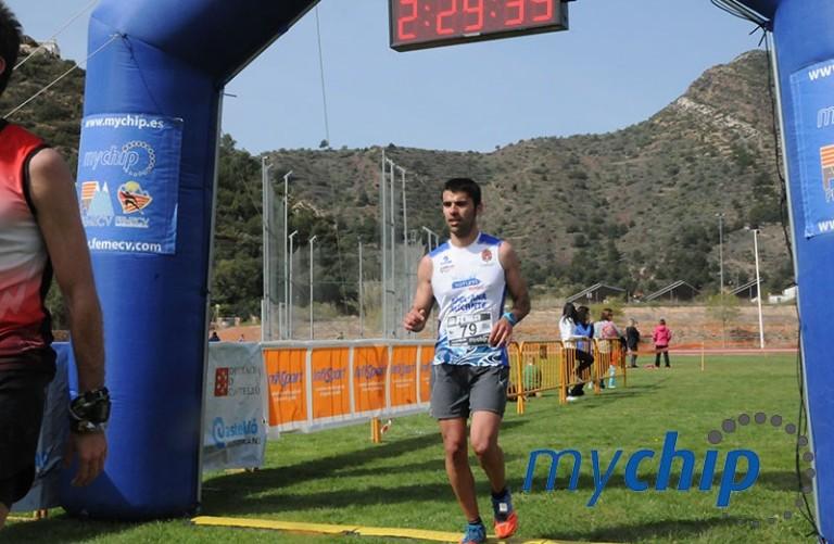 Jorge Mañez entrando en meta