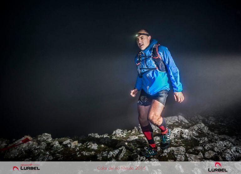 José Antonio Azorín, en la cima del Padroncillo minutos antes de sufrir la caída en la bajada