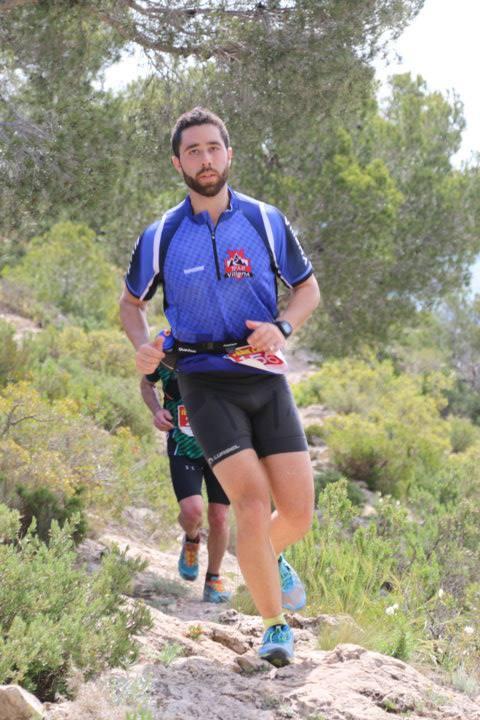 Luis Camarasa en el descenso del Capurutxo