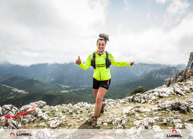 María Ángeles Gabaldón, a su paso por el alto del Padroncillo