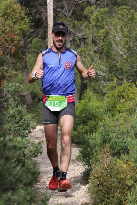 Rober Martínez durante la carrera de 14 km