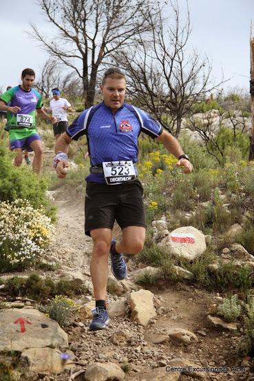 Pedro Luna durante el descenso al Montcabrer