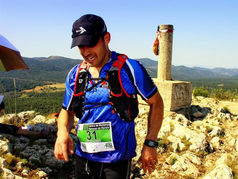 Juan José Ortuño, iniciando el descenso