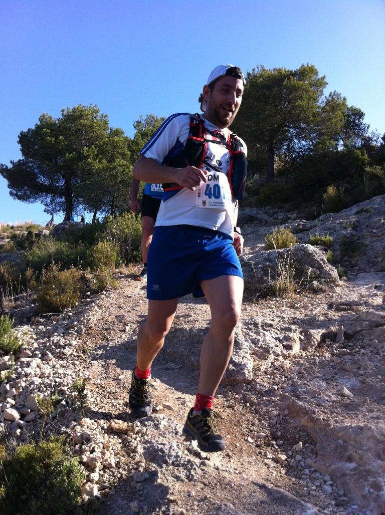 Lorenzo Flor durante el descenso