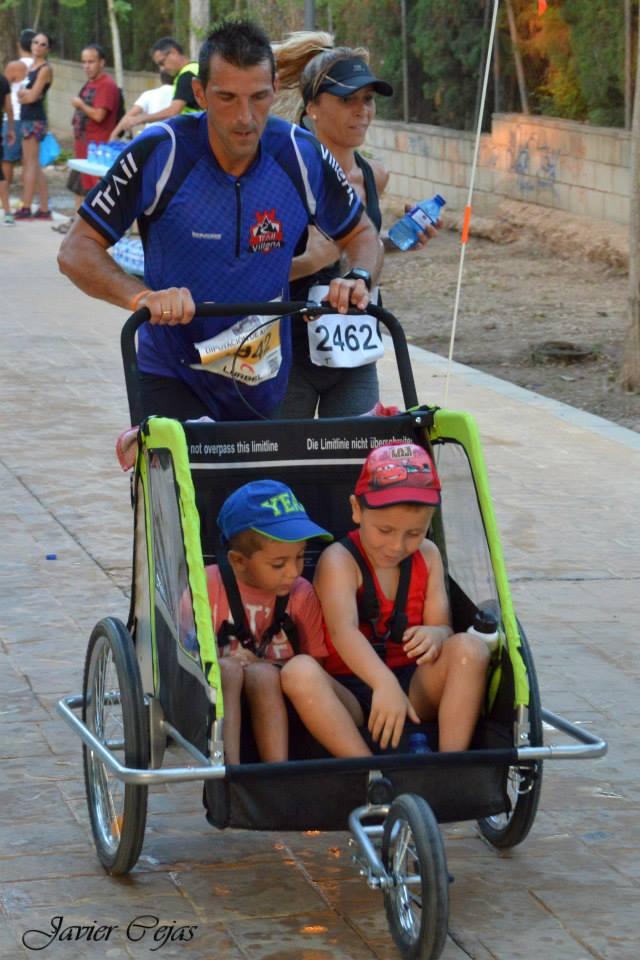 Raúl Domene disfrutando de la carrera junto a su familia