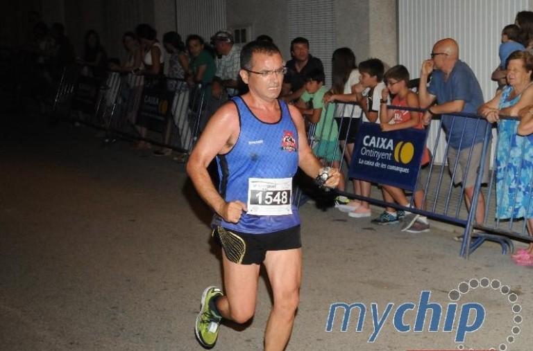 Vicente Sánchez en su llegada a meta