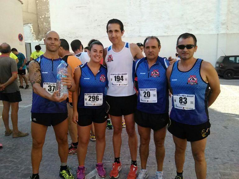 Los cinco componentes de Trail Villena que corrieron en Moixent