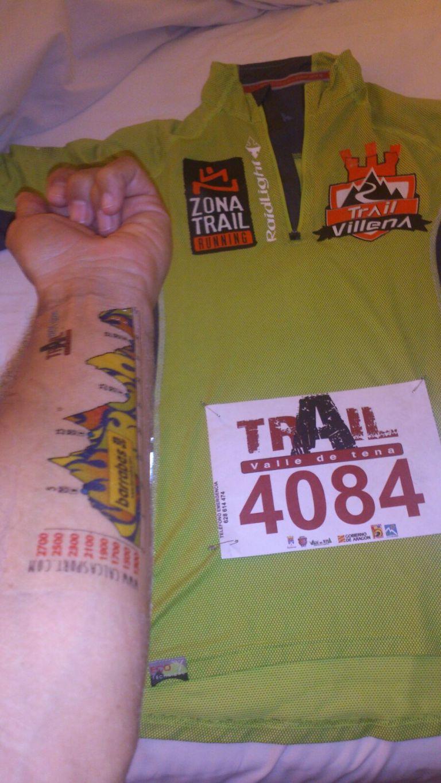 Tatuaje con el perfil de la carrera