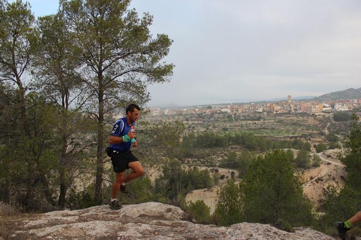 Raúl Domene durante la carrera de 26 km