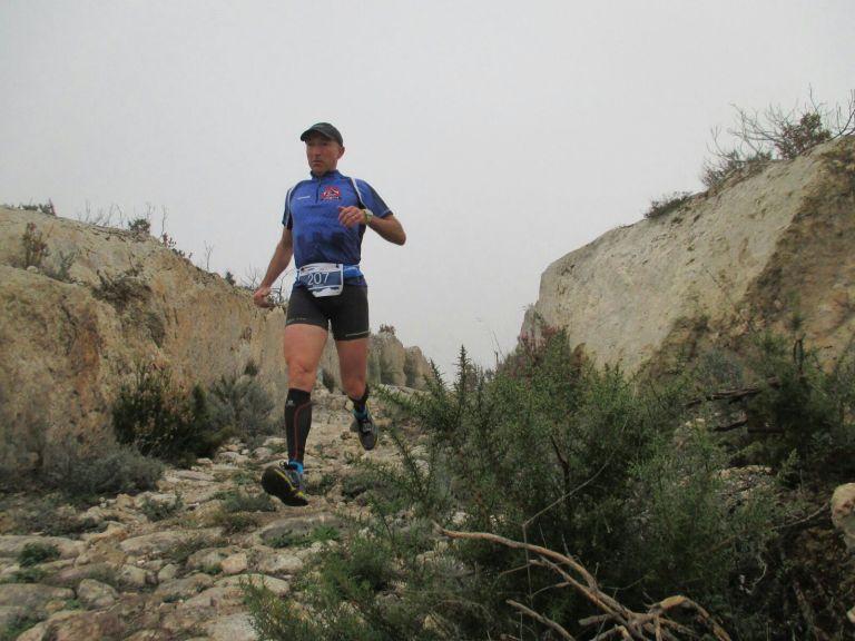 Emilio Alcaráz durante un descenso