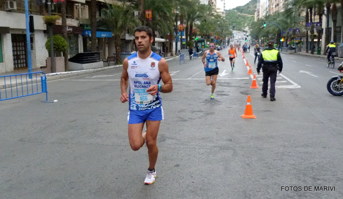 Jorge durante el desarrollo de la carrera de 10 km