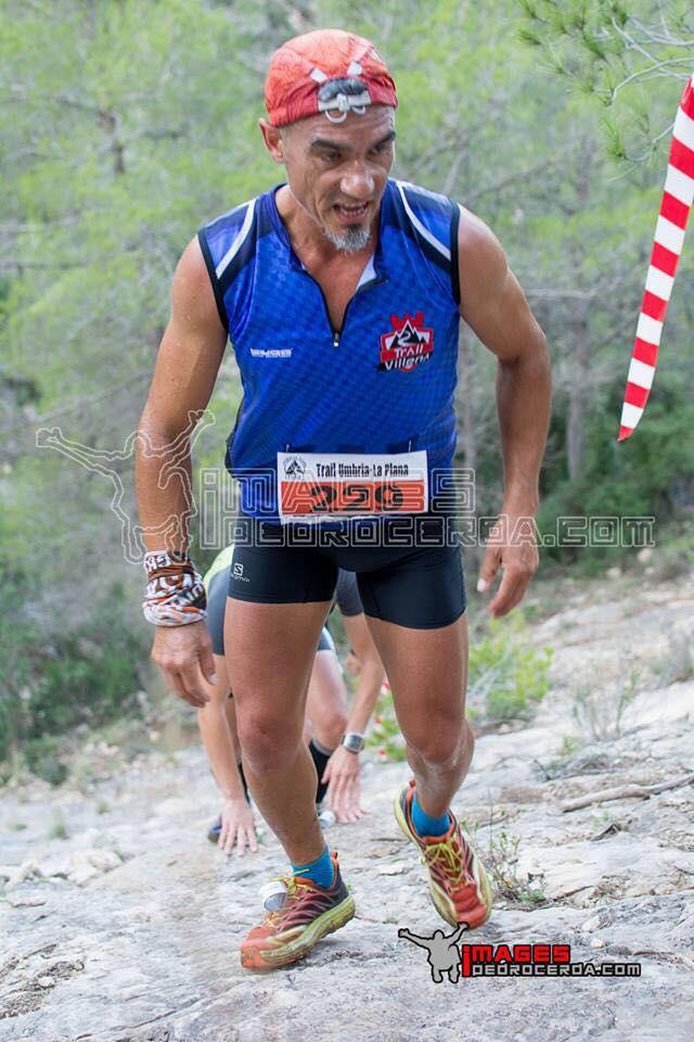 Juan José Malpica culminando una de las duras subidas de la carrera