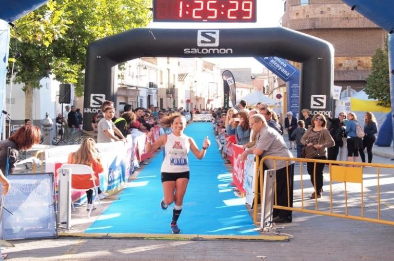Noelia Soriano, en su debut en carreras de montaña