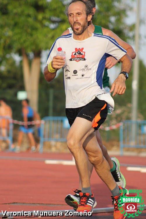 Paco Milán en la parte final de la carrera