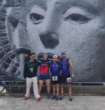 Sergio, Rai, Tony y Rober bajo la mirada de la Dama de Elche
