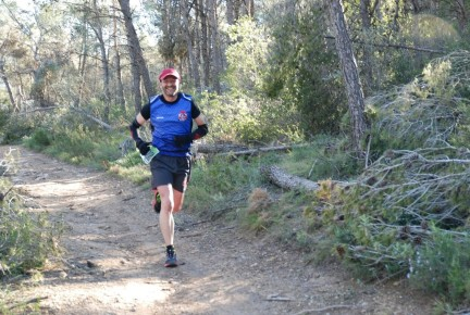 Juan Carlos durante la carrera