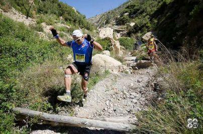 Miguel durante un descenso en carrera