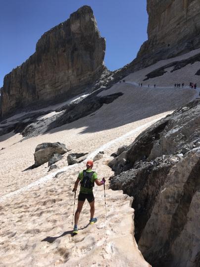 Juan José Malpica en el tramo de la Brecha de Roland