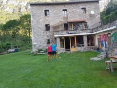 LLuna y Sebastián en el Refugio de Gresolet
