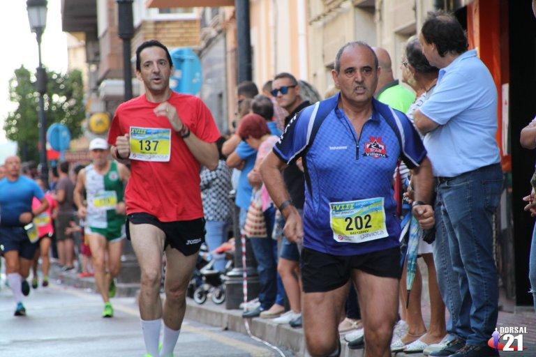 Ángel durante la carrera