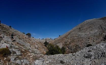 Llegando a la cima de La Sarga